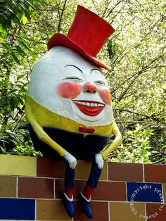 Humpty Dumpty - Enchanted Forest - Turner, OR roadside attraction since 1971. A mix of wonder (for little kids), a touch of creepiness (for the big kids), and nostalgic for everyone.