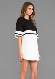 CAMEO We Are Young Dress in Black/White - Dresses