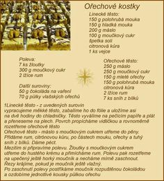 Czech Recipes, Christmas Cookies, Baking Recipes, Rum, Sweets, Bread, Food And Drink, Cake, Advent