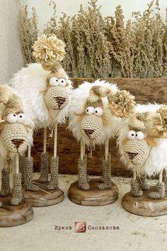 Игрушки животные, ручной работы. Ярмарка Мастеров - ручная работа. Купить Овечка.... Handmade. Бежевый, барашка, пряжа мохер