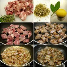 εύκολη τηγανιά με χοιρινό - η συνταγή του ένδοξου μεζέ Greek Recipes, Pork, Food And Drink, Cooking Recipes, Beef, Chicken, Ethnic Recipes, Nail Designs, Kitchens