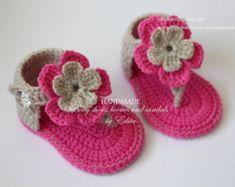 Crochet baby sandals gladiator sandals booties por editaedituke