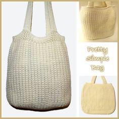 Pretty Simple Bag ~ FREE Crochet Pattern