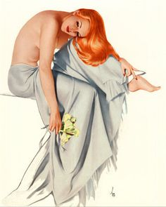 Alberto Vargas – was a Peruvian painter of pin-up girls. Despite always using figure models, his images would often portray. Dita Von Teese, Nose Art, Pin Up Girl Vintage, Vintage Art, Retro Art, Vintage Photos, Pin Up Girls, Madonna, Modelos Pin Up