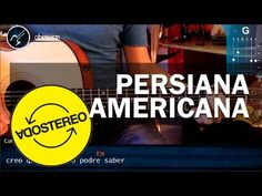 "Cómo tocar ""Persiana Americana"" de Soda Stereo - en Guitarra Acústica (HD) Tutorial - Christianvib - YouTube"
