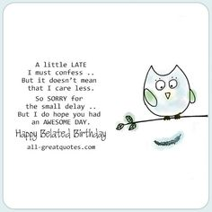 88 Best Belated Birthday Wishes Images