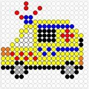 Deze kralenplank en vele andere in het thema verkeer kun je vinden op de website van Juf Milou.