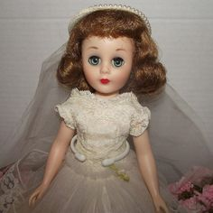 "American Character Stunning ""Sweet Sue Sophisticate Bride"" In Original Gown, Rare Size 13"" Circa 1957 from Stuck On Dolls       stuckondolls@gmail.com for $275.00"