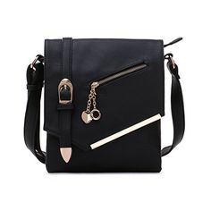 Laura Mulleavy Crossbody Bag Crossbody Purse Multiple Pocket Crossbody Purse with Adjustable Shoulder Strap Crossbody Bag for Woman Ziptop Closure Black *** You can get more details by clicking on the image.Note:It is affiliate link to Amazon.