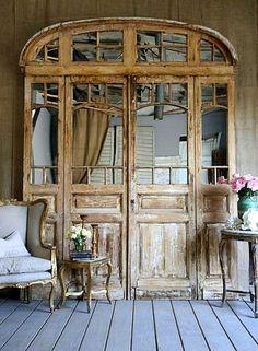 salvaged doors, Beautiful!