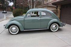 1957 VW Beetle Deluxe Sunroof Oval Window
