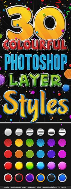 Big Pack of Colourful 3D Layer Styles - Text Effects Styles