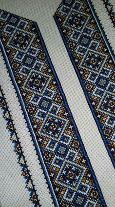 Ukraine, from Iryna Embroidery Motifs, Learn Embroidery, Cross Stitch Embroidery, Embroidery Designs, Crochet Cross, Filet Crochet, Bead Loom Patterns, Cross Stitch Patterns, Arte Popular