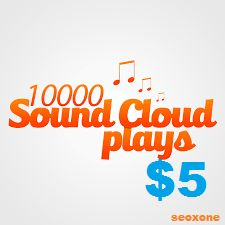 Give you 10000 soundcloud plays for $5