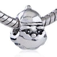 christmas Santa Silver Plated Fit Pandora Beads