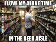 I really love my alone time in my favorite aisle.