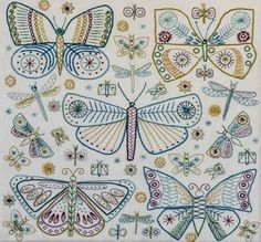 Butterflies Embroidery Kit - Nancy Nicholson