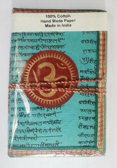 OM Chakra Art Journal Sea Blue Green Meditation by IndianJournals, $6.99