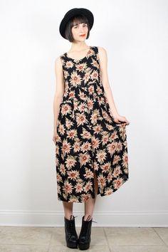Vintage 90s Dress Grunge Dress Sunflower by ShopTwitchVintage