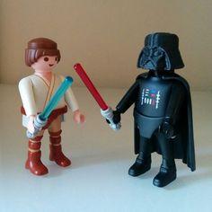 Custom Playmobil Luke Skywalker & Darth Vader, Star Wars