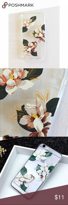 iPhone 6/6s Plus Floral Phone Case Brand new iPhone 6/6s plus floral hard phone case. Never used. Bought the wrong size -- my phone isn't plus! But this case is really beautiful and will last a long time. *not Anthro Anthropologie Accessories Phone Cases