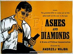 Academy Poster for Andrzej Wajda's Ashes and Diamonds (1958) from BFI Printstore, Academy Posters c/o Media Storehouse: Wall Art, Prints and Photo Gifts