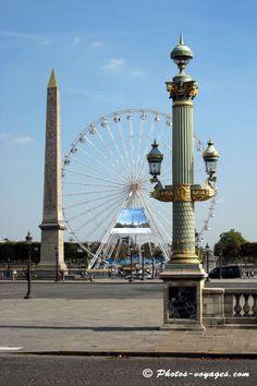 Place de la concorde,Paris  love walking in this area of Paris, but crossing the street is difficult ..