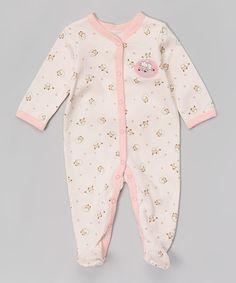Look at this #zulilyfind! Pink Lamb Appliqué Footie - Infant by Vitamins Baby #zulilyfinds