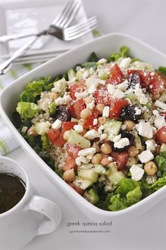 This Greek Quinoa Salad combines all my favorite flavors and ingredients with the extra bonus of quinoa. I made this salad twice in the past week. I love a good Greek salad and I love quinoa so combining the two was pretty brillant I thought. We've been enjoying summer like temperatures here in Portland and …
