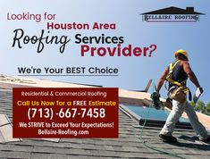 Let the professional do it right. Call Bellaire Roofing (713) -667-7458, to schedule a FREE roof inspection, and avoid costly repairs. www.Bellaire-roofing.com  #Roofing #RoofInstallers #RoofRepair #HomeRoofing #Contractor #RoofingMaintenance #Houston #HoustonRoofing #Bellaire #ClearLake #JerseyVillage #Katy #MissouriCity #Pasadena #Southside #Houstoncontractor
