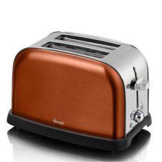 Swan Metallic 2 Slice Toaster - Copper