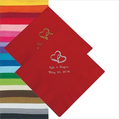 Two+Hearts+Personalized+Napkins+-+Luncheon+or+Beverage+-+OrientalTrading.com