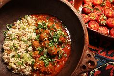 In France, meatballs are called boulettes, and by far the favorite versions are the spice-scented North African type Most of the neighborhood Tunisian and Moroccan restaurants in Paris offer them, served as an appetizer or a side, or in a fragrant main-course tagine with couscous This recipe is an amalgam of several that I found on my bookshelf, among them one called boulettes tangéroises in an old French cookbook