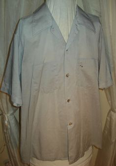 Vintage 50's Arrow Weekenders Gray Embroidered Mens Rockabilly Lounge Shirt L