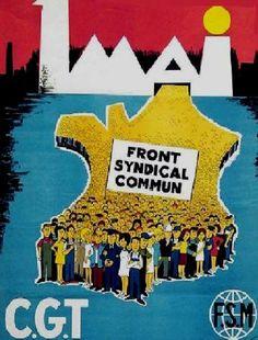 Affiche du 1er mai 1969 pour la CGT de Jacques Kamb