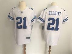 7cfda423714 Men's Dallas Cowboys #21 Ezekiel Elliott Nike White Alternate Vapor  Untouchable Elite Jersey Nike Vapor