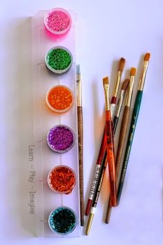 Dazzling sparkle paint recipe you can make in two minutes or less!