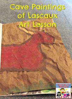 Cave paintings of Lascaux lesson, part of our France unit study