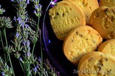 Kruche ciasteczka lawendowe - SmakiMaroka.pl Muffin, Bread, Breakfast, Food, Morning Coffee, Brot, Essen, Muffins, Baking