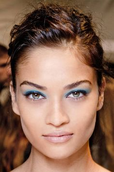 A spot of icy blue at Nanette Lepore #eyemakeup
