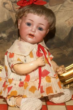 """Mint 11"""" Kammer and Reinhardt 122 Baby with Toy Store Clothes from matrixqualityantiquedollsbymail on Ruby Lane"""