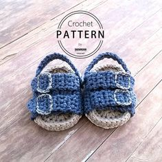 Crochet PATTERN. Birkenstock style baby sandals. Instant