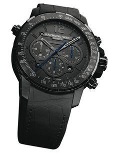 Raymond Weil Nabucco Rivoluzione Chronograph watch  Black is the new Black