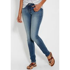 maurices Denim Flex™ Medium Wash Jegging With Plain Pockets, Women's,... ($30) ❤ liked on Polyvore featuring pants, leggings, pocket pants, denim jeggings, pocket leggings, denim pants and denim leggings