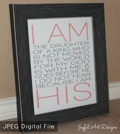 I Am His PRINTABLE.