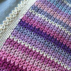 v-stitch – BautaWitch Crochet Blanket Patterns, Baby Blanket Crochet, Crochet Baby, Crochet Blankets, Crochet Ideas, V Stitch, Catania, Afghan Blanket, Diy And Crafts