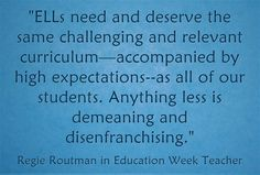 Regie Routman shares tips for helping #ELLs when your school has to ESL curriculum