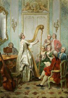 la reina adolecente: SU PASIÓN POR EL ARPA - María Antonieta (13 enero 1773)