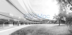 Rendering view of Apple Campus 2 courtyard