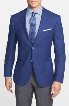 Corneliani Classic Fit Wool & Flax Blazer available at #Nordstrom